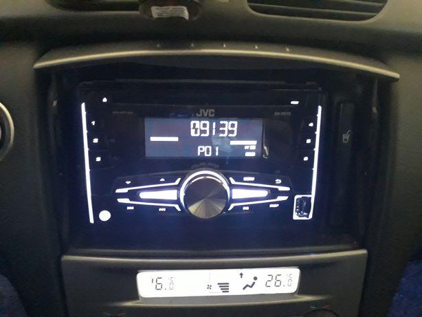 Radioodtwarzacz JVC KW-R510 2DIN USB multikolor +GRATISY
