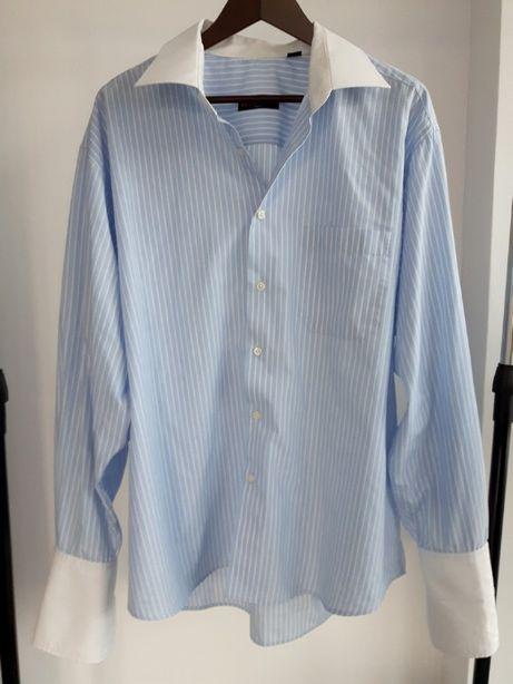 Koszula Emilio Pucci w biało - niebieskie paski