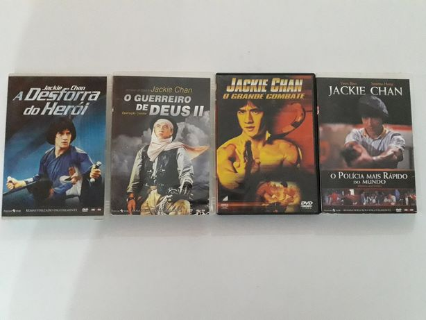 Vendo 4 DVDs Jackie chan