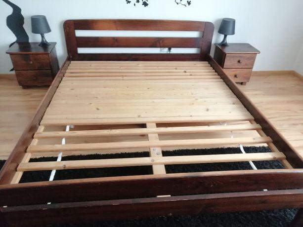 Łóżko sypialniane + szafki i połka, KOMPLET