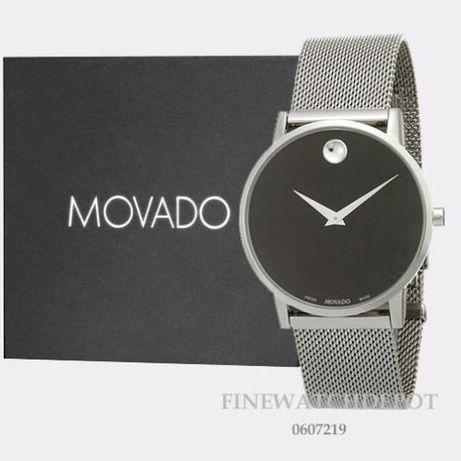 Часы Movado Mesh Museum Black Dial Stainless Steel модель 0607219