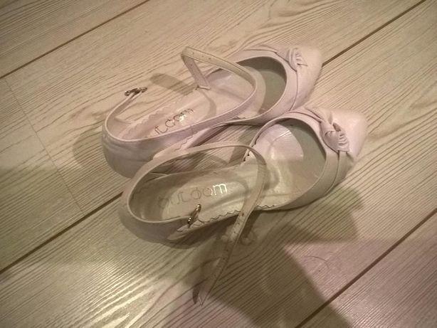 buty ślubne skórzane raz ubrane rozmiar 37 (zaniżone 38)