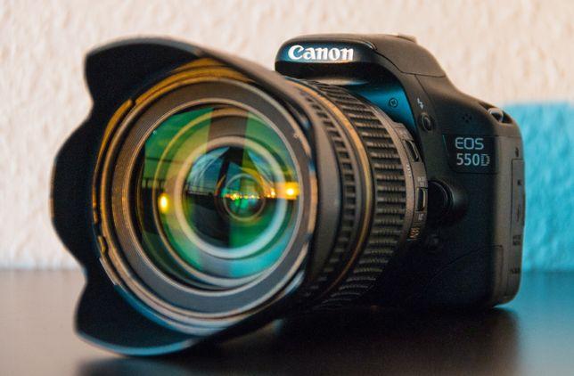 Canon 550D lustrzanka + 2 obiektywy 18-55 + tamron 17-50 2.8 + gratis