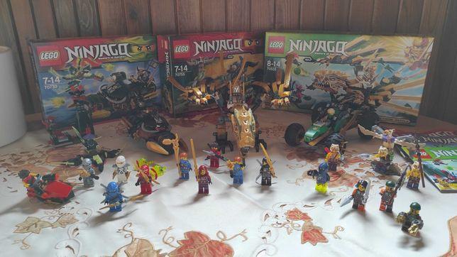 Trzy zestawy LEGO NINJAGO 70733,7055, 70503, + figurki NINJAGO