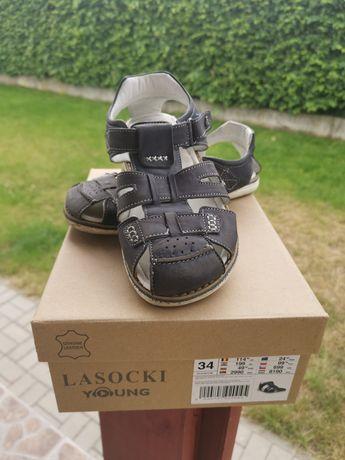 Sandały chłopięce lasocki 34