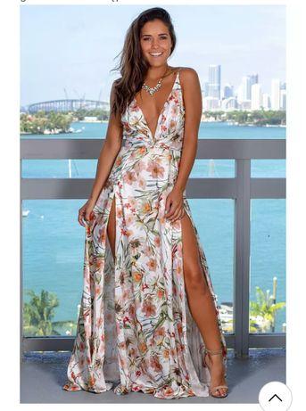 Piękna zwiewna letnia sukienka xl