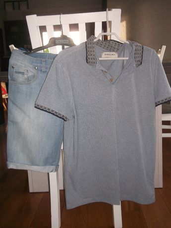 Bluzka+spodenki dzinsowe