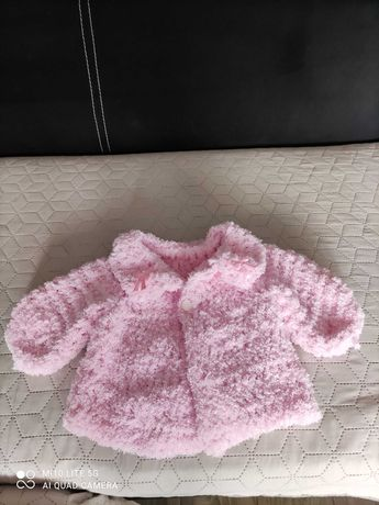 Narzutka sweterek do chrztu 56/62