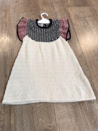 Nowa sukienka Zara rozm. 86, 12-18 mies. ciepła na zimę