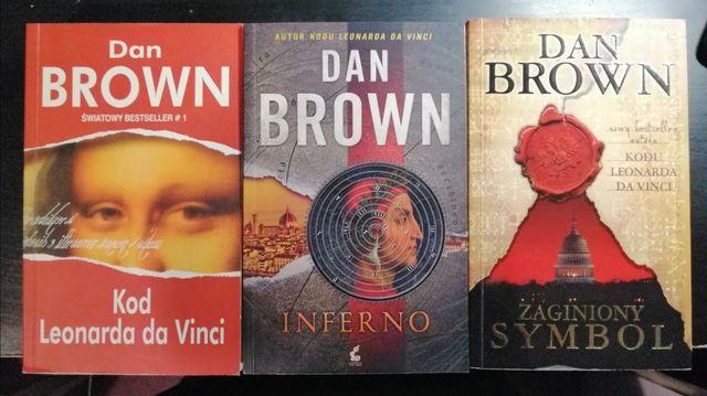 Dan Brown kolekcja Kod Leonarda da Vinci Inferno Zaginiony Symbol