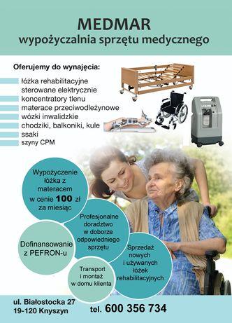 Łóżko rehabilitacyjnez materacem 100 zł za miesiąc