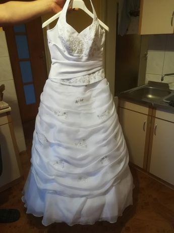 Suknia ślubna z dodatkami r. 38-40