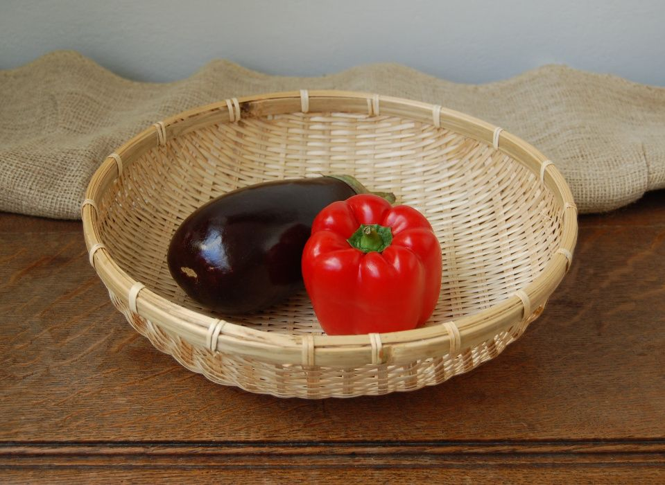 Kosz okrągły, płaski, misa na warzywa, owoce, bambus Lublin - image 1