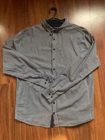 Koszula męska w kratę xxl