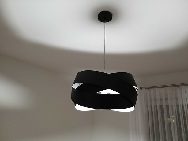 Lampa wisząca Tornado 3x40 W E27 czarna żyrandol nowa