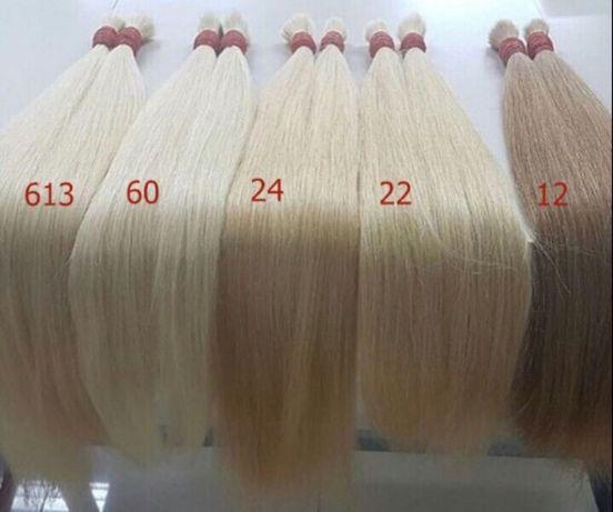 Продам натуральные славянские 100% волосы в срезе блонд и русые
