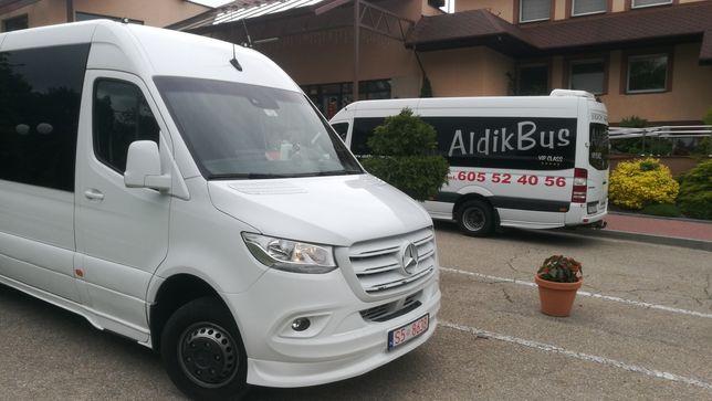 Przewóz osób Wynajem busa Wypożyczalnia Przewozy Minibus 23+1 20+1