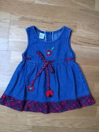 jeansowa sukieneczka 12 miesięcy