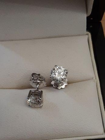 Золотые серьги с бриллиантами. 2 карат.