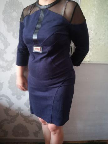 Замшевое платье 36 р.