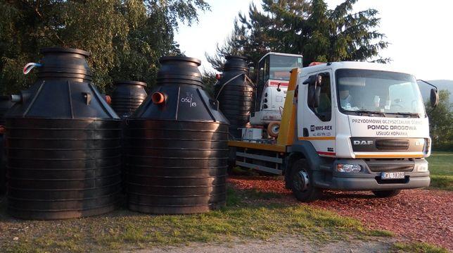 Przydomowa oczyszczalnia ścieków - montaż i budowa, usługi koparką