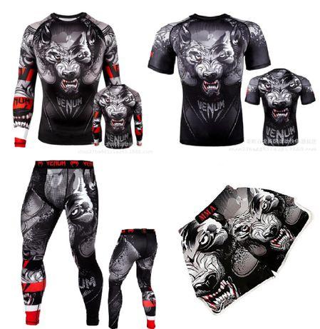 Компрессионный Venum рашгард леггинсы лосины футболка шорты ММА UFC.