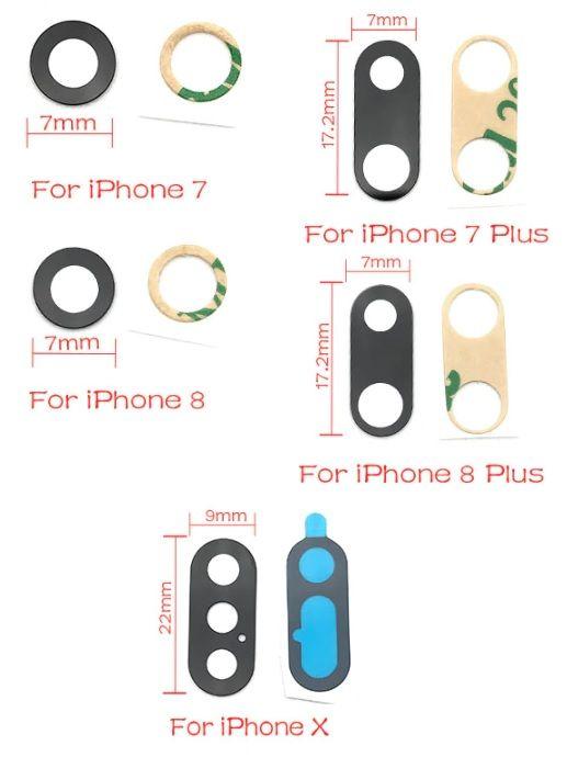 Vidro da camera traseira para Iphone 7 / 7 Plus / 8 / 8 Plus / X / XS Espinho - imagem 1