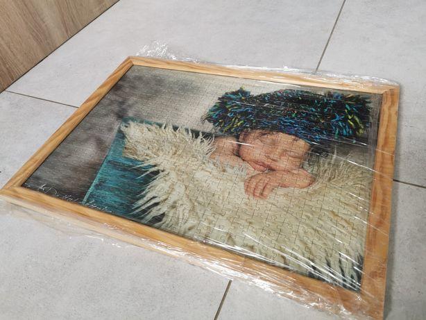 Puzzle w ramce jak Anne Geddes śpiące dziecko 500 szt.