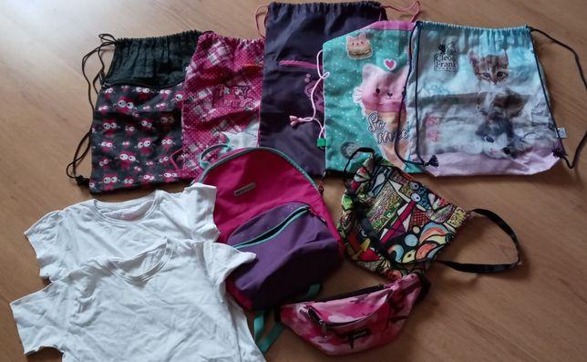 Sprzedam plecaczek, worki, koszulki