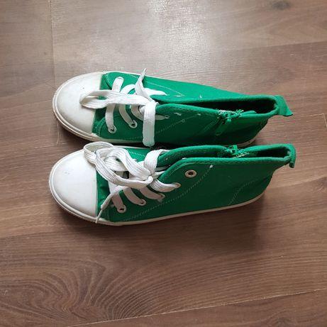 Zielone wysokie trampki Cool Club r.33