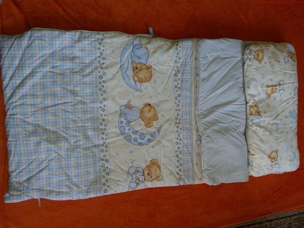 śpiwór cudna pościel dla dziecka sensoryka docisk zamki poduszka NOWE