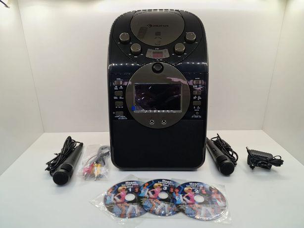 Zestaw karaoke Kamera CD USB SD MP3 z 2 x mikrofon 3 x CD+G