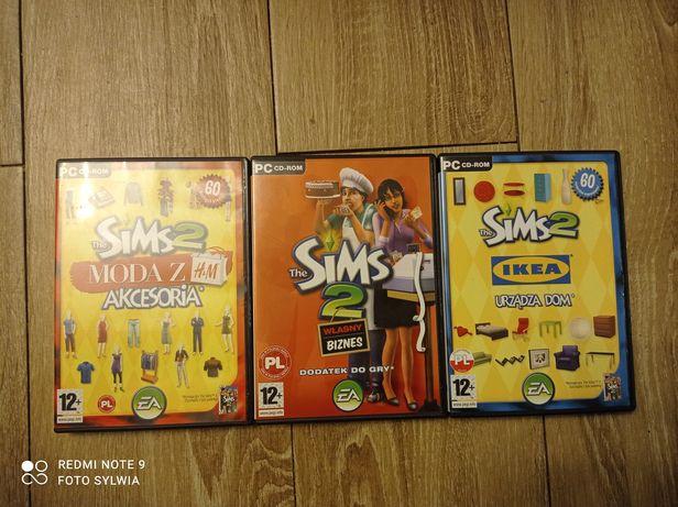 Sims 2 dodatki 15zł szt.