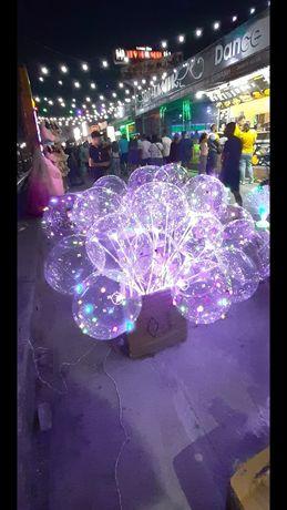 Шарики со светодиодной лентой Бобо светящиеся шары
