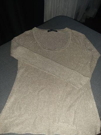 Złoty sweterek bluzka