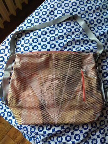 Torebka plecak brzoskwiniowa pomarańczowa z siateczką Oriflame