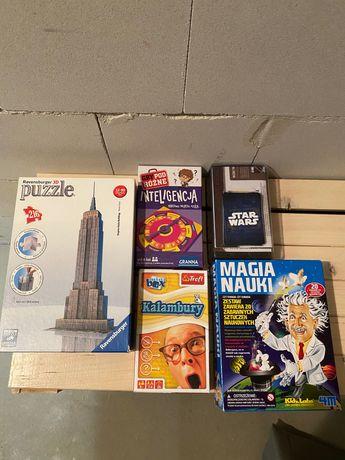 Zestaw gier + puzzle 3D