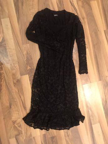 Плаття чорне Zack London з воланом по низу розмір s 42-44