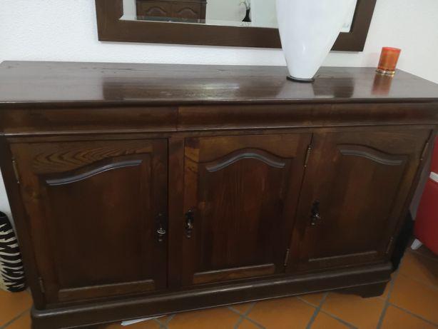 Mobília de sala madeira castanho