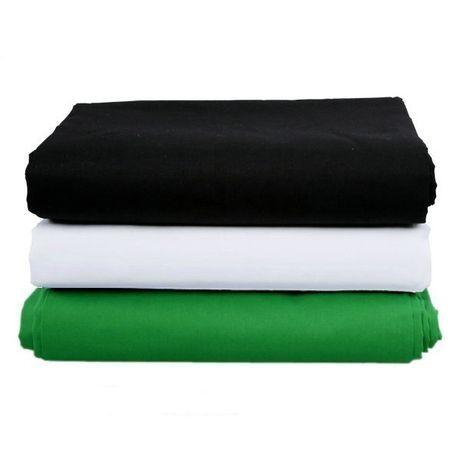 Fundo algodão para foto e vídeo verde, preto ou branco