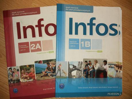 Pearson Infos 2A, 1B podręcznik do nauki języka niemieckiego