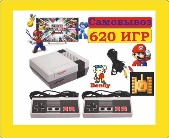 Игровая приставка  консоль Dendy NES 620 встроенных игр Денди Сега