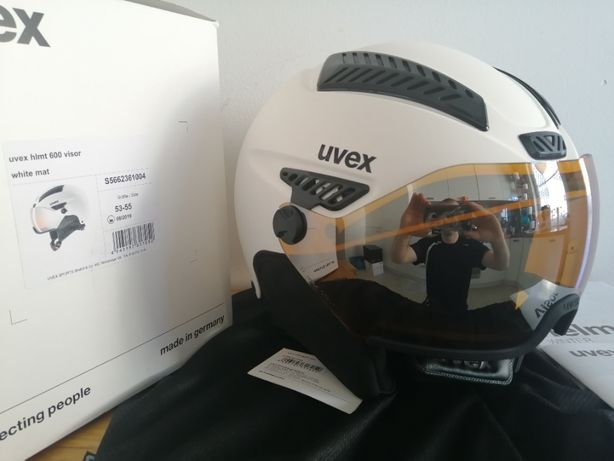 Kask narciarski Uvex HLMT 600 VISOR white mat S 53-55cm