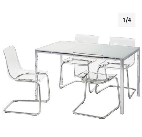 Mesa de cozinha e 4 cadeiras TORSBY / TOBIAS IKEA