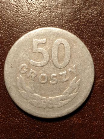 Moneta PRL 50 groszy 1965 rok