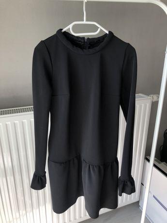 Piękna włoska sukienka - ciepła, gruby materiał S/M