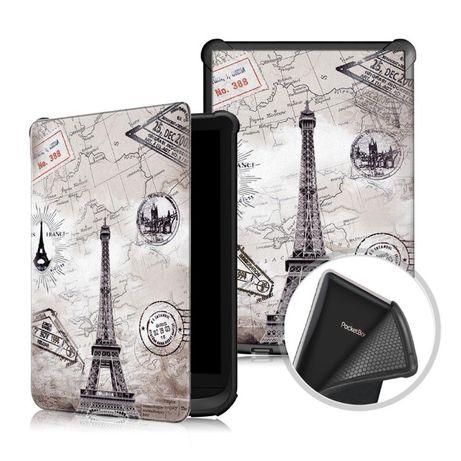 Чехол для Pocketbook 627 Touch Lux 4 - обложка Покетбук рисунок Париж