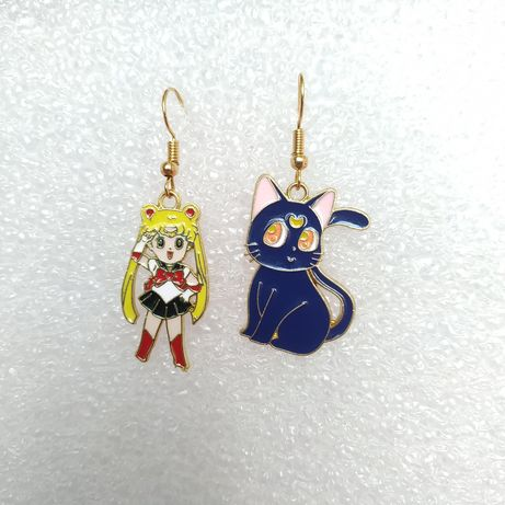 Kolczyki Sailor Moon manga anime