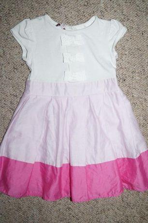 Przepiekna elegancka sukienka-9-12 m-cy