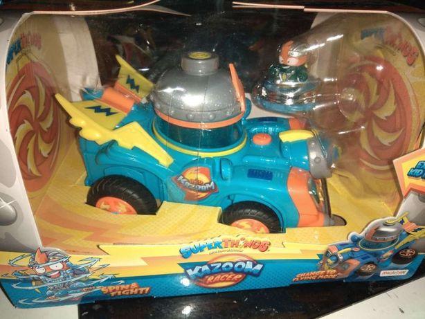 SuperThings Secret Spies - Kid Kazoom racer pojazd figurka wyrzutnia